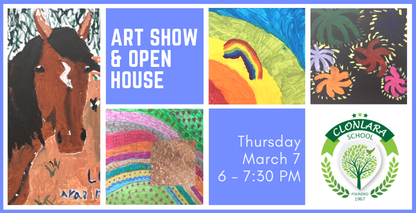 Art Show & K-12 Open House, March 7
