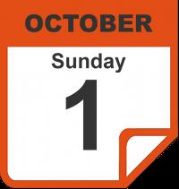 Sunday, October 1