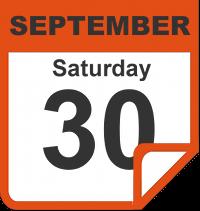 Saturday, September 30