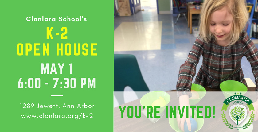 Clonlara School K-2 Open House - May 1, 2018