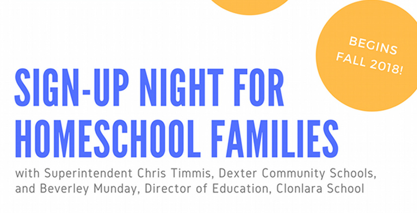 Event: Sign-Up Night for Homeschool Families