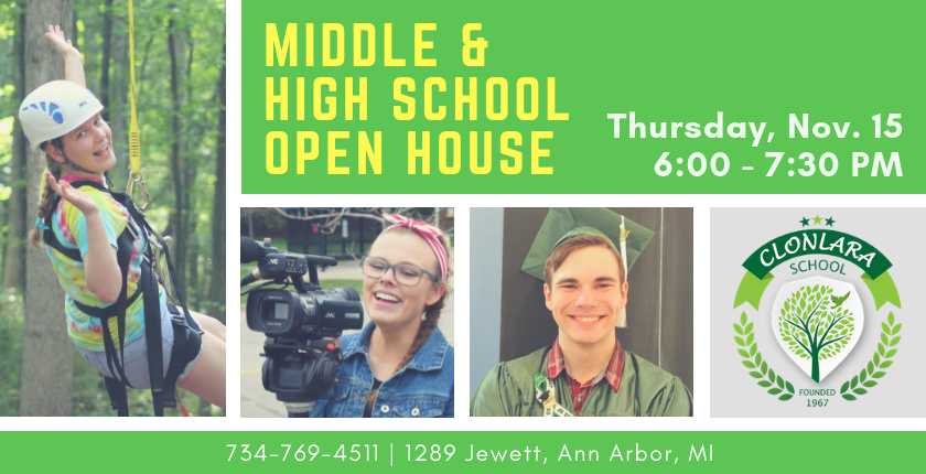 Middle and High School Open House, Nov. 15, 2018